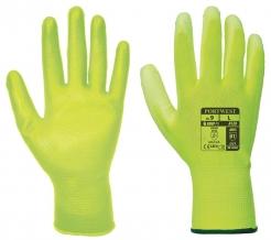 Rukavice A120 bezšvový nylonový úplet povrstvený polyuretánom žlté veľkosť L