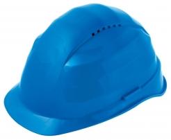 Ochranná prilba Rockman C6 HDPE 12 ventilačných otvorov látkový kríž modrá