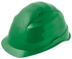 Ochranná prilba Rockman C6 HDPE 12 ventilačných otvorov látkový kríž zelená