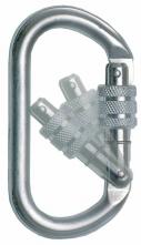 Karabínka AZ011 oceľová poistný výklopný skrutkovací uzáver s otvorom 18 mm