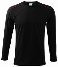 Tričko Long Sleeve bavlna 180g unisex čierne