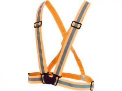 Kríž výstražný WOTA elastický reflexný oranžový