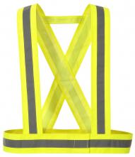 Popruhy výstražné HV CROSS 1 vodorovný + 2 zvislé reflexné pruhy žlté