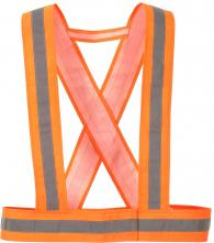 Popruhy výstražné HV CROSS 1 vodorovný+2 zvislé reflexné pruhy oranžové