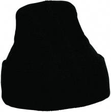 Čiapka MESCOD pracovná pletená zimná čierna veľkosť vetšia L
