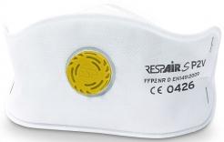 Respirátor RESPAIR S FFP2V SLIM skladaný s výdychovým ventilom jednotlivo balený