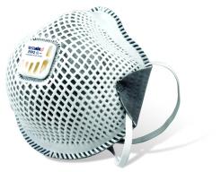 Respirátor RESPAIR C O FFP2V aktívne uhlie proti zápachu výdychový ventil sivý