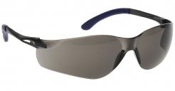 Okuliare Pan View dvojzorníkový športový celoplastový dizajn šnúrka tónované sivé