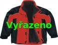 Bunda ALBATROS zateplená športový strih červeno/čierna veľkosť L