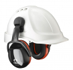 Mušľové chrániče sluchu SECURE 3C na prilbu SNR 32 výškovo nastaviteľné čierno/oranžové