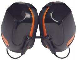 Mušľové chrániče PROTECTOR ZONE 2 tylový SNR31 čierno/oranžový