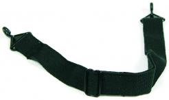 Podbradný pásik PROTECTOR bavlnený čierny