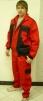 Montérkový komplet KOLÍN náprsenka červeno/čierny veľkosť 48
