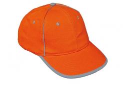 Čiapka RIOM reflexný pruh oranžová