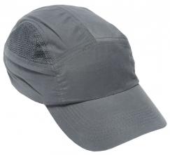 Čiapka so škrupinou FIRST BASE CAP+ štandardný šilt sivá