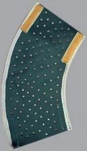 Chránič predlaktia kožený suchý zips 20 cm
