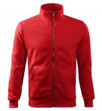 Mikina TEXO Contrast BA / PES vrecko na prsníku guľatý priekrčník šedo / oranžová