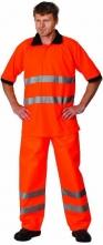 Polokošeľa AVALON piqué reflexná oranžová veľkosť XL