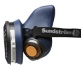 Polomaska SUNDSTRÖM SR 100 upevnenie pre centrálny filter 2 výdychové ventily modrá veľkosť M/L