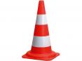 Kužeľ dopravná biele pruhy výška 54 cm oranžový