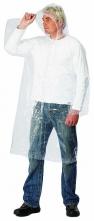 Pláštenka s kapucňou polyetylénová tenká priehľadná