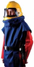 Kukla pieskovacia SCORPION lichobežníkový priezor modrá vesta z Cordury žltá