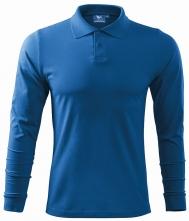 8ac201b73d1c Polokošeľa Single Jersey 180 dlhý rukáv azúrovo modrá veľkosť M