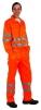Nohavice KOROS do pása výstražné pruhy oranžové veľkosť 54