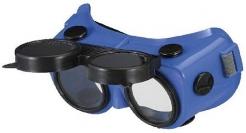 Okuliare B-V 24 zváračské odklápacie modré