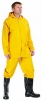 Oblek HYDRA PVC/polyester nohavice pás blúza s kapucňou žltý veľkosť L