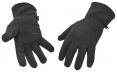Rukavice FLEECE zateplené zosilnené polyesterom v dlani čierne
