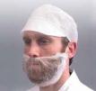 Maska jednorazová na bradu a fúzy biela