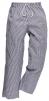 Nohavice BROMLEY CHEFS pružný pás so šnúrkou modro/biele pepito veľkosť XL