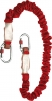 Tlmič pádu MIMAS17 roztiahnuteľné lano 1,4 m červený