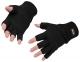 Rukavice KnitGlove pletené z akrylu Insulatex voľné končeky prstov čierne