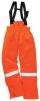 Nohavice BIZFLAME PLUS do pása s trakmi antistatické zateplené nehorľavé oranžové veľkosť XXL