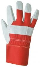 Rukavice PREMIUM kombinované textil/sivá hovädzia štiepenka veľkosť XL