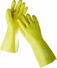 Rukavice DG STANDARD máčané v PVC 35 cm žlté