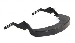 Držiak štítu Hellberg EPOK Flex nylonový vrátane tesnenia na prilbu so šikmým šiltom čierny