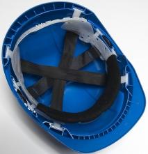 Hlavový kríž na ochrannú priemyselnú prilbu PROTECTOR 600 terylene čierny froté pásik