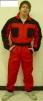 Kombinéza ROMAN bavlna červeno/čierna veľkosť 50