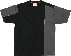 Tričko Mach 2 krátky rukáv čierno/sivé veľkosť L