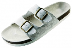 Obuv PUDU šľapky korková podrážka biele