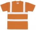 """Tričko PW do """"véčka"""" výstražné reflexné pruhy oranžové veľkosť XL"""