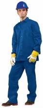 Montérkový komplet JARDA blúza a nohavice do pása strednomodrý predĺžený