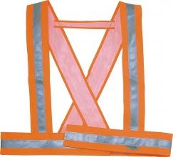 Popruhy BAUCE ramenné výstražné oranžové