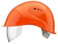 Prilba VOSS VISOR LIGHT ochrana zátylku PC priezor oranžová