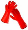 Rukavice CERVA FLAMINGO bavlnený úplet máčaný v PVC zateplené červené