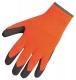 Rukavice Thermal Grip úplet PES potiahnutý latexom zateplené oranžovo/čierne