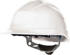 Ochranná priemyselná prilba QUARTZ 3 UP plastová náhlavná vložka račňa biela